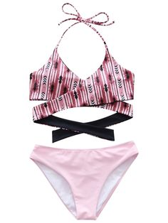 4751bd07f1d43 Women Padded bathing suits Push Up Bra Sets Floral Print Swimsuit Two Piece