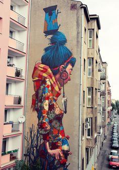 #graffiti #girl #bird
