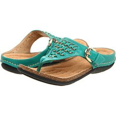 clarks turquoise sandals