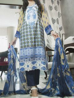 Pakistani Salwar Kameez Lawn Yashfeen Cotton Inn Embroidery 73-A - http://wafafashion.com/product/pakistani-salwar-kameez-lawn-yashfeen-cotton-inn-embroidery-73-a/