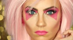 Jem and the Holograms Halloween Makeup Tutorial!  So easy and so rad!  #HelloGorgeous