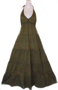 Gipsy Hippie Goth Boho Long Sun Halter Dress s M L | eBay