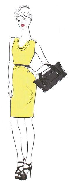 Abendkleid à la Audrey Hepburn, Kostenloses Schnittmuster
