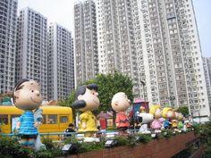 Peanuts characters in Hong Kong.