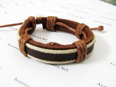 Real Soft Leather and Cotton  Ropes Adjustable by accessory365, $2.50