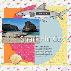 MIS_Shark Fin Cove | The Lilypad Beach Scrapbook Layouts, Shark Fin, Beach Design, Under The Sea, Road Trip, Santa Cruz, Road Trips