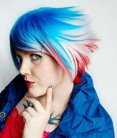 Happy Fourth of July, Hair Creatives! Red White & Blue Hair!