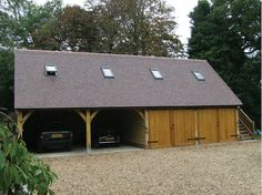 Oak framed garages gallery by Oakwrights Country buildings