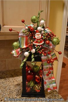 Cute Christmas lantern idea from Kristen's Creations