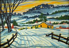 Country Winter by Craftint, 1962.  Paint by Number.