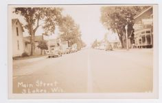 THREE LAKES WISCONSIN RPPC OF MAIN STREET DRUG STORE, SERVICE STATION    Collectibles, Postcards, US States, Cities & Towns   eBay! Three Lakes, Drug Store, U.s. States, Main Street, Worlds Largest, Wisconsin, Postcards, Cities, Maine