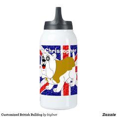 Customized British Bulldog 10 Oz Insulated SIGG Thermos Water Bottle