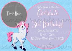enchanted unicorn | Enchanted Unicorn Birthday Invitation | digiprintsbytnl - Cards on ...