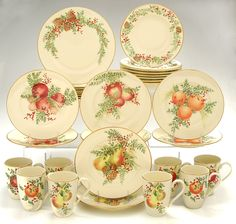 Image detail for -Lenox Williamsburg Boxwood & Pine 32-Piece Dinnerware Set