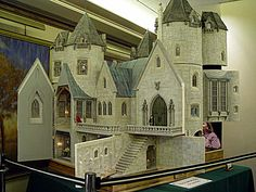 """""""Hogwarts Castle"""" by miniature artisan Rik Pierce. The School for Witchcraft and Wizardry of Harry Potter fame is an 18 room, 5 turret castle with nooks and crannies, special places, and hidden spaces."""
