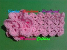 """Crochet Tutorial Vincha Diadema """"Ykita"""" Headband - Haarband Subtitles En..."""