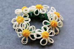 Daisy-Chain-Bracelet-2 by YarnJourney, via Flickr