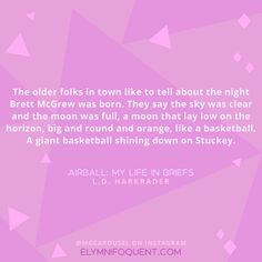 Airball: My Life in Briefs by L. D. Harkrader | #MGCarousel #IReadMG #kidlit #mglit #amreading #bookblogger #bookquote #quoteoftheday