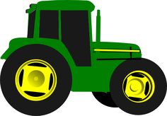 Green Tractor clip art - vector clip art online, royalty free ... - ClipArt Best - ClipArt Best