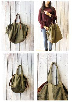 FRANCESCA a beautiful handmade Vintage Military Fabric bag\luggage di LaSellerieLimited su Etsy