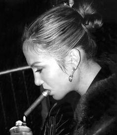 J.Lo smoking her stogie .............................................................