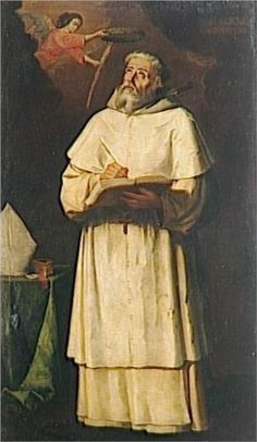 """St. Pierre Pascal, Bishop of Jaen"", 17th C., by Francisco de Zurbarán (Spanish, 1598-1664)."