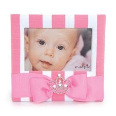 Mud Pie Baby Little Princess Fabric Frame with Jewel Crown (Baby Product) #picture frames