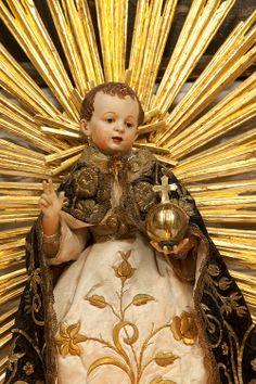 The Christ child in Franziskanerkirche, Salzburg, Austria