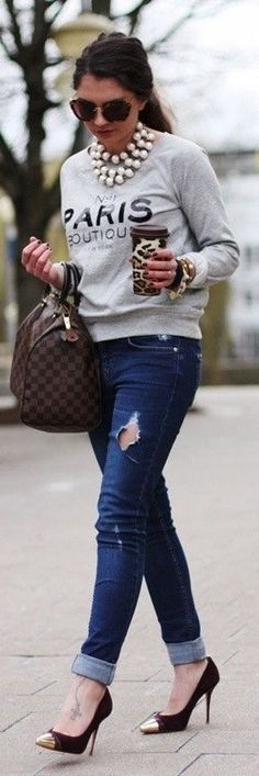 Skinies, Heels and Chic Tattoo. Lovely