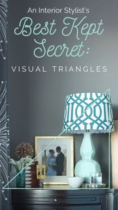 This is THE best explanation for arranging home decor ever! Check out her free video with more examples of how to use visual triangles to fix your home decor.