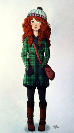 The second of my modern Disney princesses! Merida is simply amazing and Brave is my favorite Pixar movie So which princess should I convert into a contemporary girl next? Disney Dream, Disney Style, Disney Love, Princesse Disney Swag, Disney Princess Merida, Pocahontas Disney, Disney E Dreamworks, Disney Pixar, Disney Characters