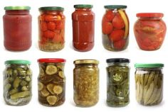 How to paint jar lids Healthy Recepies, Healthy Chicken Recipes, Healthy Foods To Eat, Antipasto, Chutney, Creme, Pickle Jars, Vegetable Nutrition, Vegetarian