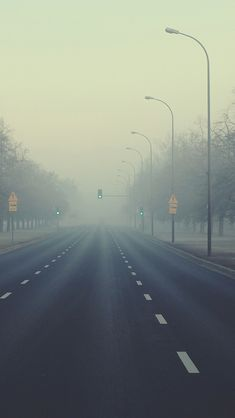 The fog Road #iPhone #5s #Wallpaper