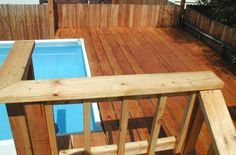 Hardwood Swimming Pool Decking Amazing Swimming Pools, Swimming Pool Decks, Swimming Pool Designs, Wood Pool Deck, Decking, Above Ground Pool Stairs, In Ground Pools, Outdoor Furniture, Outdoor Decor