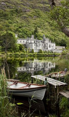 Kylemore Abbey in Connemara, County Galway, Ireland.
