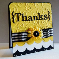 Really cute and bright card that could be customized for a number of themes.