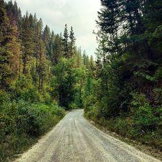 """... and miles to go before I sleep"" (Missoula, Montana) by Alysa Bajenaru (@ alysabajenaru) cr. #countryroad"