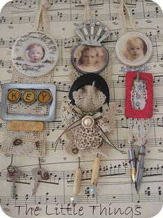 Little assemblage art dolls