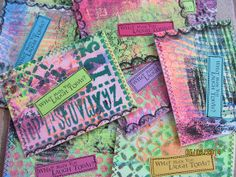 """Journaling question Postcards """"What made you laugh today?"""" For iHanna diy postcard swap by Lorie Kay, #mailart #prompt"""