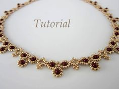 PDF tutorial Necklace Leuviah seed beads SWAROVSKY pearls by BeadsMadness on Etsy https://www.etsy.com/listing/168371276/pdf-tutorial-necklace-leuviah-seed-beads