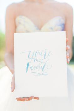 you're my favorite - photo by Nicoll's Wedding Photography http://ruffledblog.com/whimsical-garden-wedding-ideas