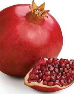 The Wonderful variety of pomegranate is known for its sweet taste and plentiful juice. The pomegranate arils are a beautiful ruby red, and are great for a snack or for adding to your favorite recipes. Fiber Rich Foods, Iron Rich Foods, Red Juice Recipe, Natural Cancer Cures, Cancer Fighting Foods, Red Fruit, Heart Healthy Recipes, Nutritional Yeast, Natural Medicine