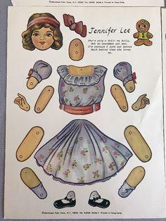 Vintage Jointed Paper Dolls Lot Of 4 Merrimack Polly Sue Baby Belle Sylvia Jane   eBay