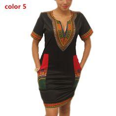 {$8.99} Dashiki dress Summer Sexy African Print Shirt Dresses Femme Vintage Mini hippie Plus Size Boho Women Casual Clothing