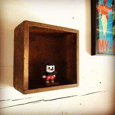 mickeymouse #disney #nanoblock #nanoblocks #interior #wall #woodenshelves #woodenframe #frame #ornament