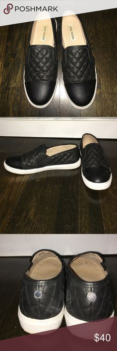Steve Madden quilted slip on sneaker Only worn a few times. Like new! Steve Madden Shoes Sneakers
