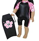 Set of 18 Inch Doll Boogie Board & Matching Wet Suit. (Doll not Included) Surfing Doll Clothes Set, Fits American Girl Dolls & More! Surf Accessories, Journey Girls, Hawaiian Print, Madame Alexander, 18 Inch Doll, Outfit Sets, Girl Dolls, American Girl, Wetsuit