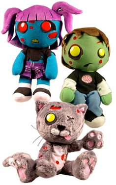 Creepy Cuddlers - Zombies set of 3. This is great for smaller kids! ^_^