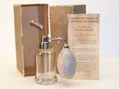 Vintage Adjustable Tip Atomizer for Oils or Aqueous Solutions Box & Instructions #AdjustableTip #Unknown