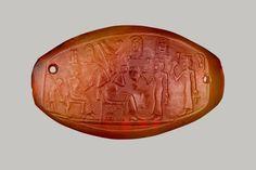 Carved Plaque of Amenhotep III Bracelet plaque Amenhotep...